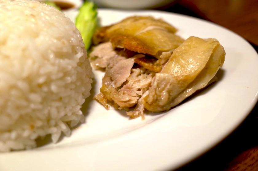 カオマンガイの鶏肉