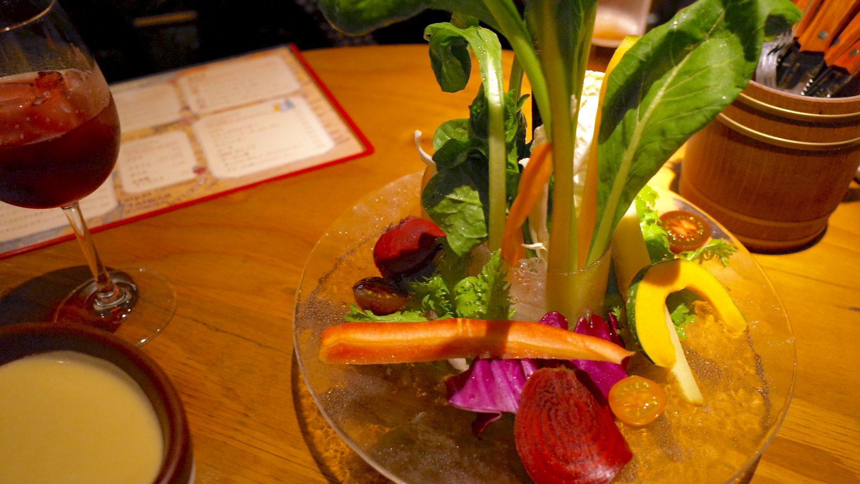 新鮮野菜のバーニャカウダー