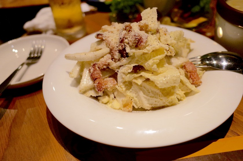 白菜とベーコンのシーザーサラダ