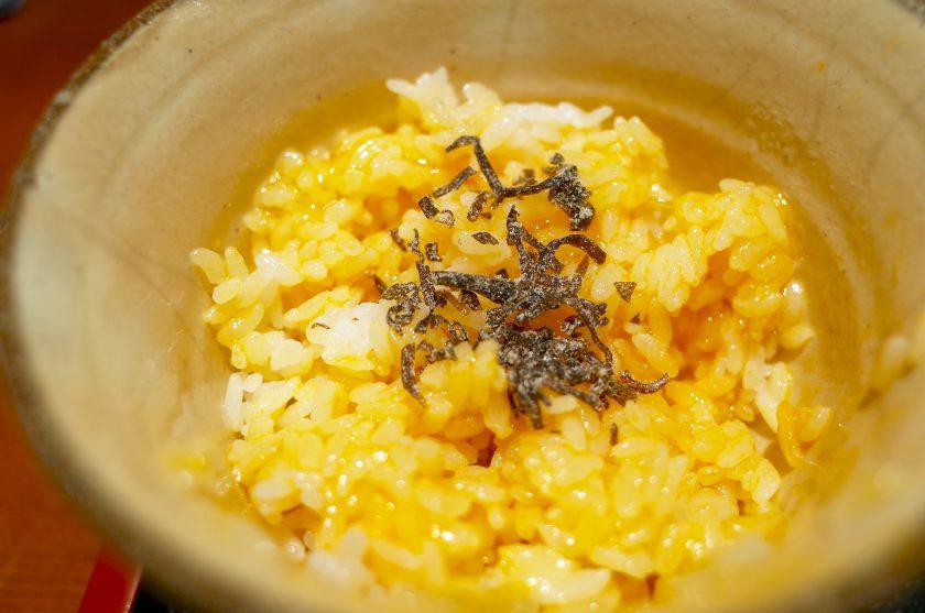 めしの助の卵かけ御飯と塩昆布