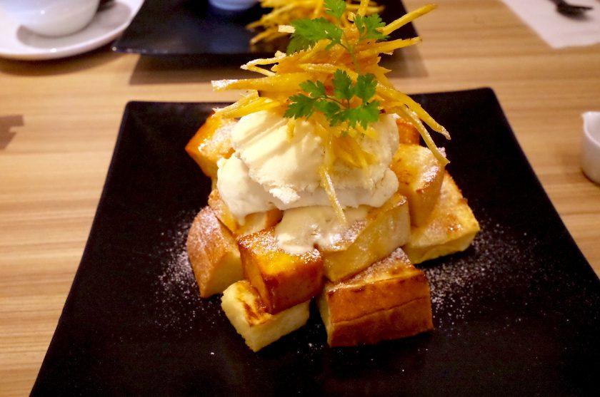 芋恋花の安納芋のフレンチトーストセット