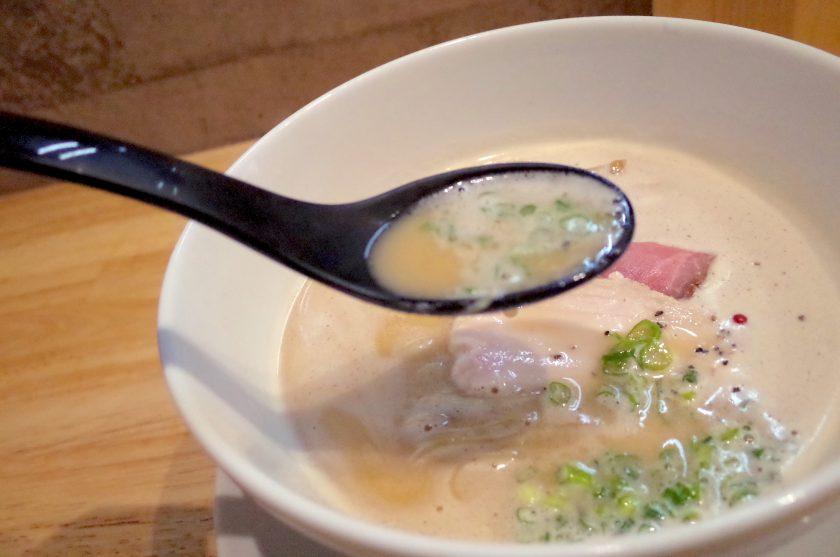 麺家獅子丸の鶏白湯ラーメンスープ