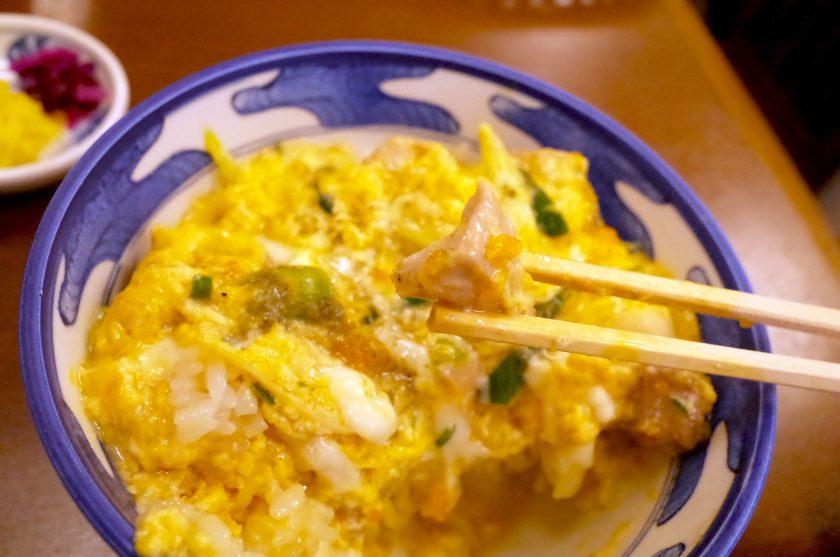 ひさごの親子丼の鶏肉
