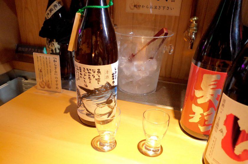十八代 光蔵の日本酒カウンター