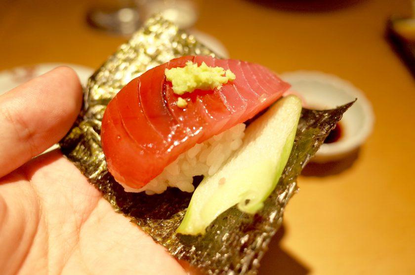 十八代 光蔵のマグロのお寿司