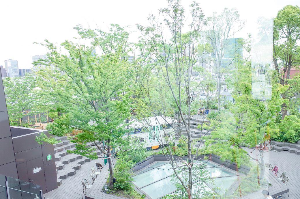 表参道billsから見える渋谷の眺望