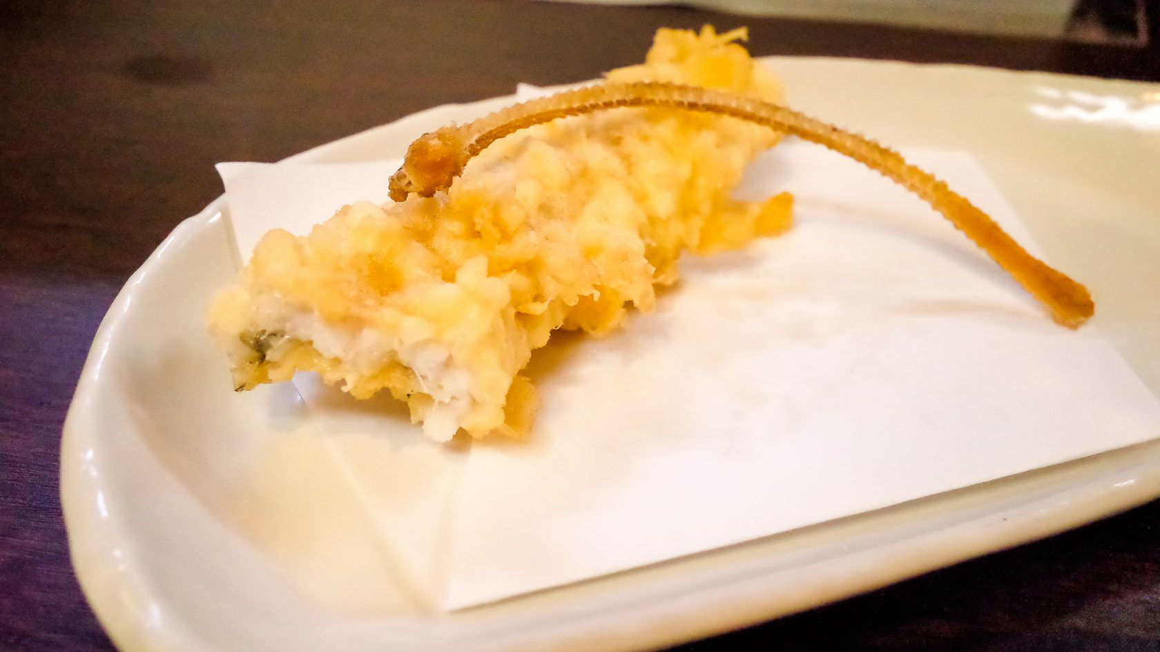 てんぷらとおばんざいいまいの穴子の天ぷら