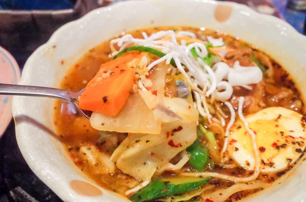マジックスパイス名古屋店のスープカレーの野菜たち