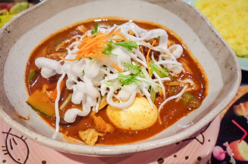 マジックスパイス名古屋店のスープカレーの激辛メニュー「アクエリアス」
