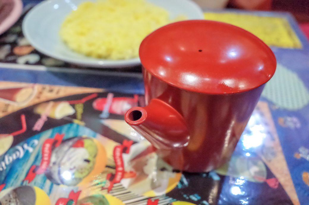 マジックスパイス名古屋店のスープカレーの激辛メニュー「アクエリアス」に付いてくるスープ