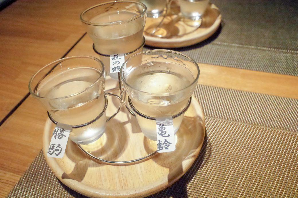 輪久の日本酒飲み比べ