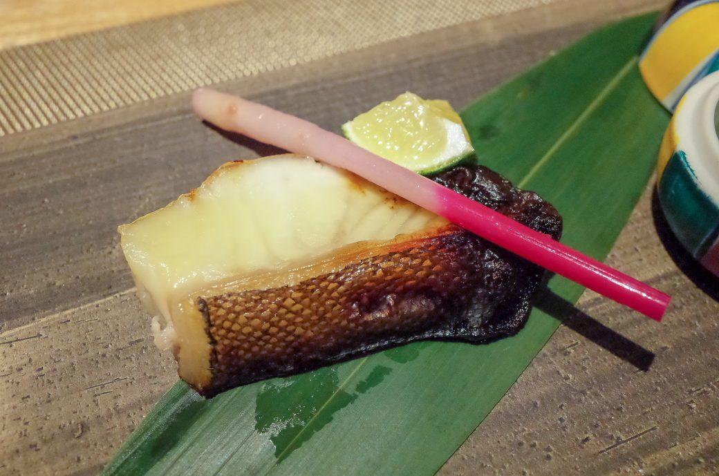 輪久の油ぎんぽの西京味噌焼き