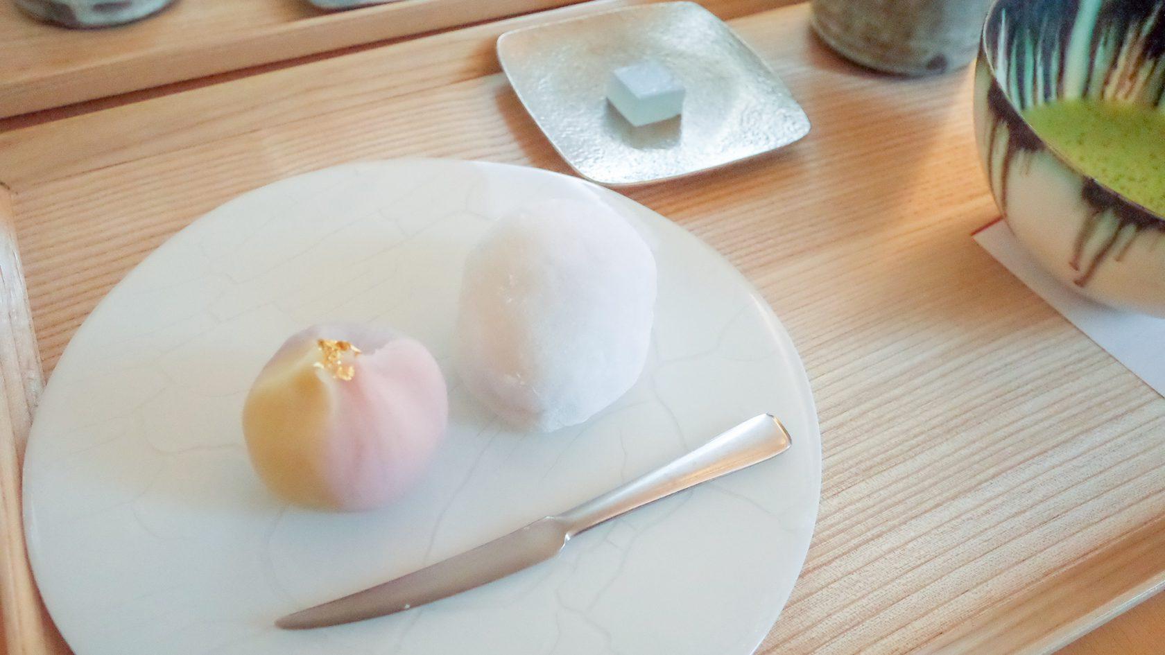 花桔梗 和菓子お茶セット